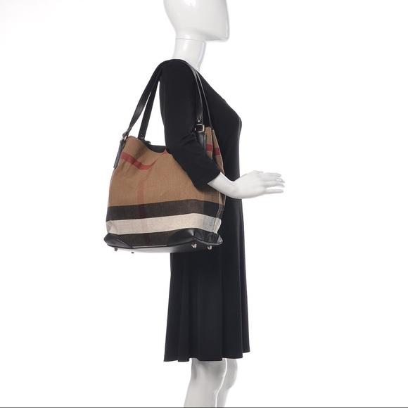 Burberry Handbags - BURBERRY Canvas Mega Check Medium Maidstone